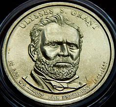 Монета США. 1 доллар 18-й президент Америки Улисс Грант
