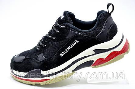 Женские кроссовки в стиле Balenciaga triple s, Black\White, фото 2