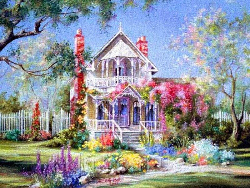 Картина по номерам Menglei Дом в цветах MG299 40 х 50 см