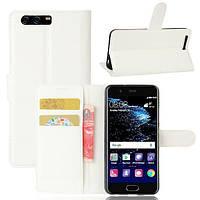 Чехол-книжка Litchie Wallet для Huawei P10 Plus Белый