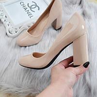 Туфлі бежеві жіночі на каблуку 36р, фото 1