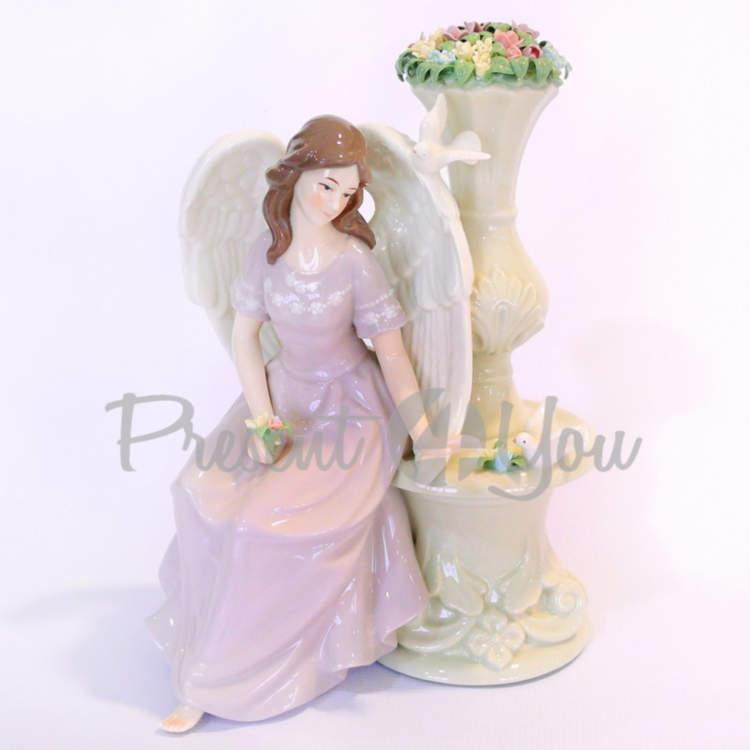 Фигурка «Нежный ангел», фарфор, h-29,8 см (350-3072)