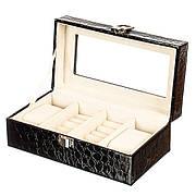 Шкатулка-бокс для хранения часов на 4 отделения (0634JA)