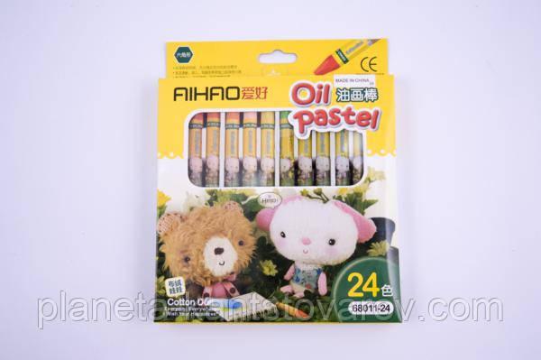 Пастели масляные Aihao 68011-24