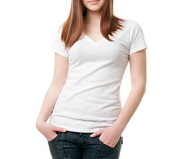 Жіноча футболка джерсі V-виріз розмір 3XL