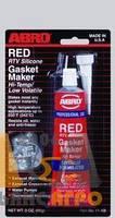 Герметик прокладок силиконовый ABRO, высокотемпературный, красный, 32 гр.