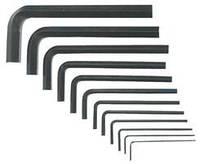 Ключи шестигранные 1,5-10 мм, набор 10 шт. Cr-V Top Tools 35D056