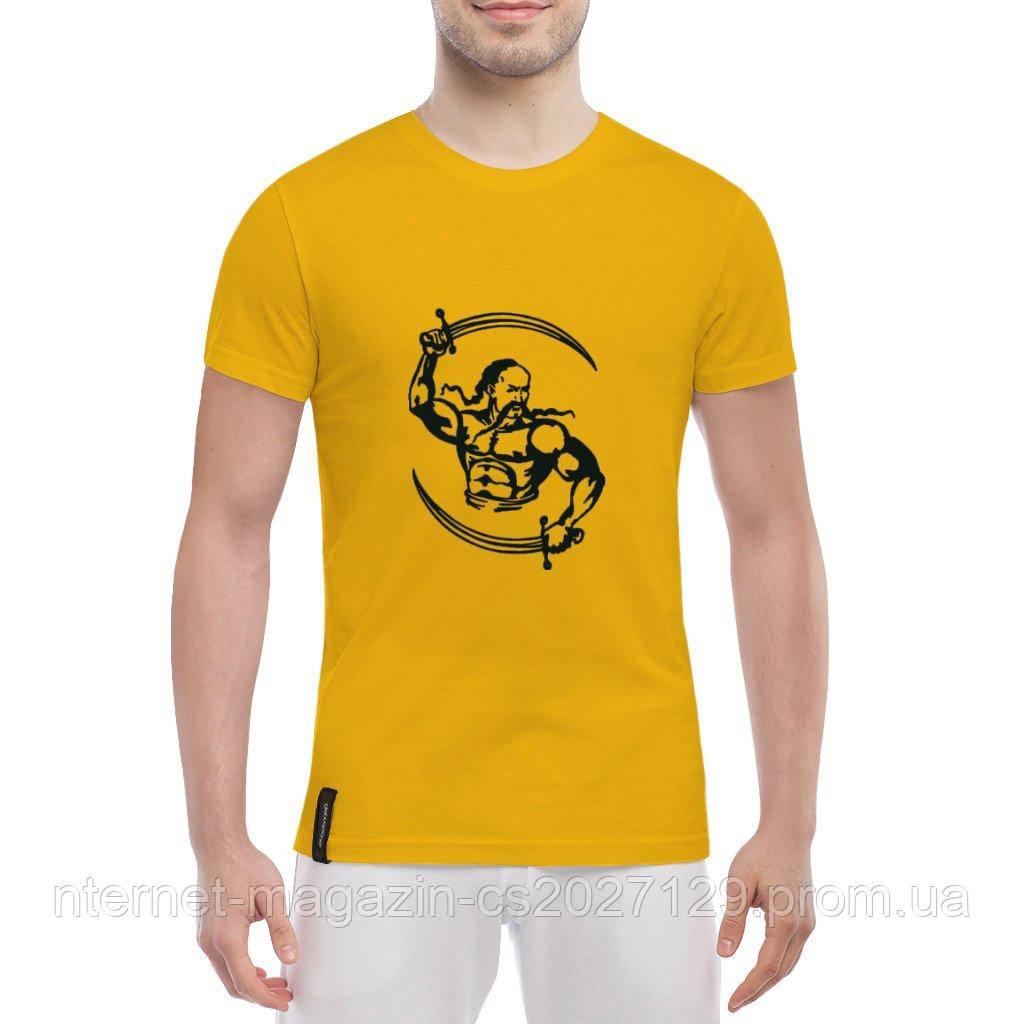 Летняя легкая футболка принт Казак с саблями
