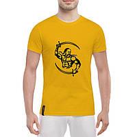 Летняя легкая футболка принт Казак с саблями, фото 1