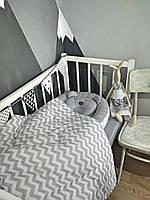 """Набор для новорожденного ( кокон, одеяло, простынь на резинке)подушка"""" Мишка"""" в подарок"""