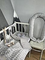 Набор для новорожденного ( кокон, одеяло, простынь на резинке)подушка облако в подарок