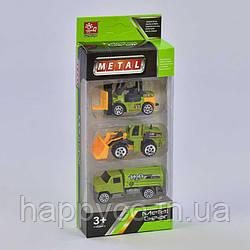 Набор машинок спецтехника металлопластик  3шт в коробке, игрушка для мальчиков