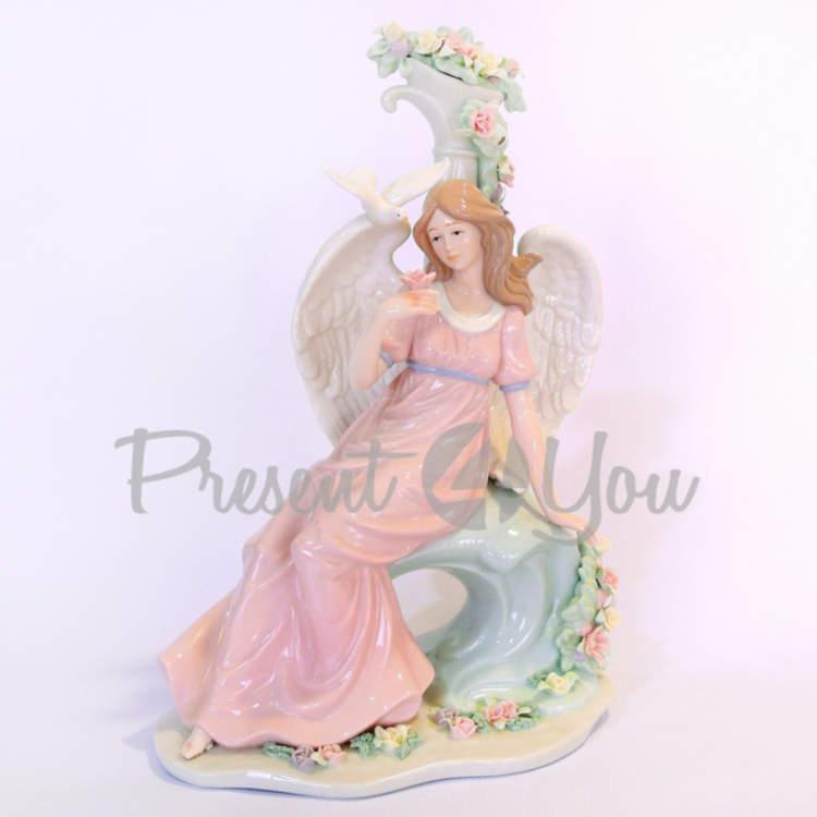 Фигурка «Райский ангел», фарфор, h-29,8 см (350-3070)