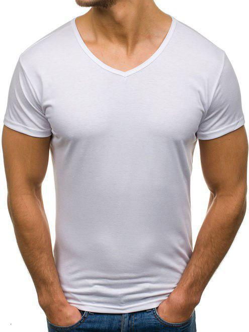 Мужская полиэстровая футболка V-вырез размер S