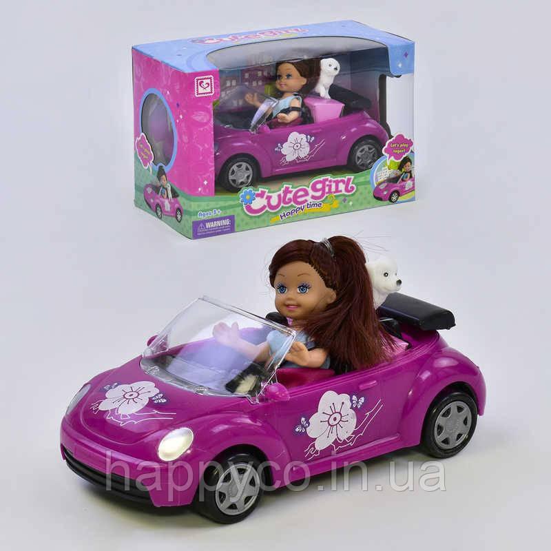 Детская Кукла с машинкой , игрушка для девочек