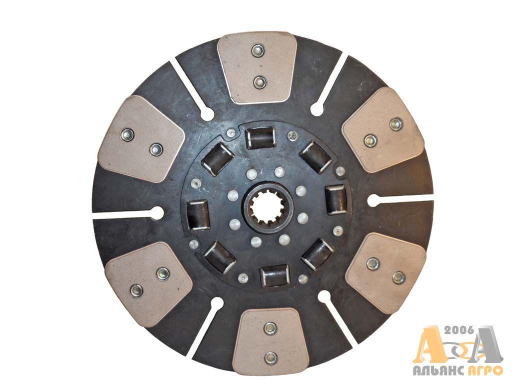 Диск сцепления ведомый МТЗ 85-1601130А (с металлокерамическ накладками на резинов) (МТЗ 80,82) (JFD)