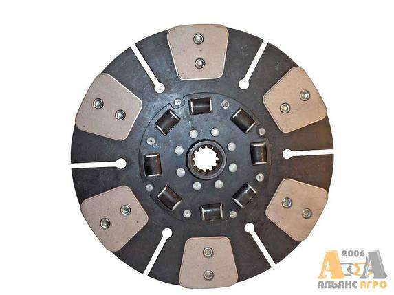 Диск сцепления ведомый МТЗ 85-1601130А (с металлокерамическ накладками на резинов) (МТЗ 80,82) (JFD), фото 2