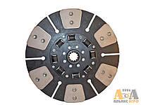 Диск зчеплення ведений МТЗ 85-1601130-А (з металокерамічними накладками, демпфер на гумових пружинах) (МТЗ-80,82) (JFD)