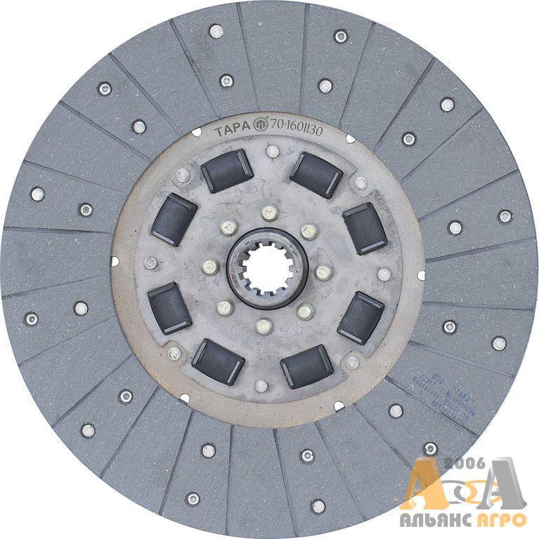 Диск сцепления заведений МТЗ-80 70-1601130 (с асбестовыми накладками) (ТАРА)