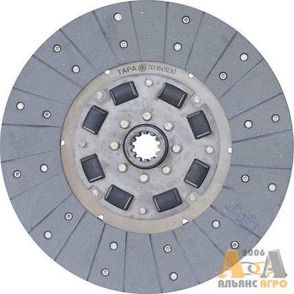 Диск сцепления заведений МТЗ-80 70-1601130 (с асбестовыми накладками) (ТАРА), фото 2