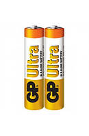 Батарейка GP ULTRA ALKALINE, 24AUEBCHM-2S2 LR03, ААА (2шт сп.), Аккумуляторы и батарейки