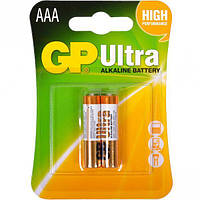Батарейка GP ULTRA ALKALINE, 24AUHM-2UE2 LR03, AAA (2шт бл.), Аккумуляторы и батарейки