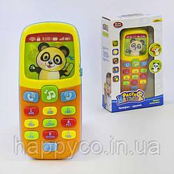 Детский телефон развивающий, свет, звук, русское озвучивание