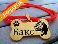 Медальон для собак КАЧЕСТВО НЕРЖАВЕЙКА 2мм+шнурок в подарок Жетон Адресник Кулон Брелок Потеряшка для животных