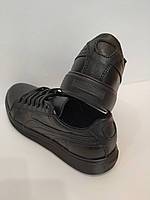 Подростковые кожаные черные кеды Teens, фото 1