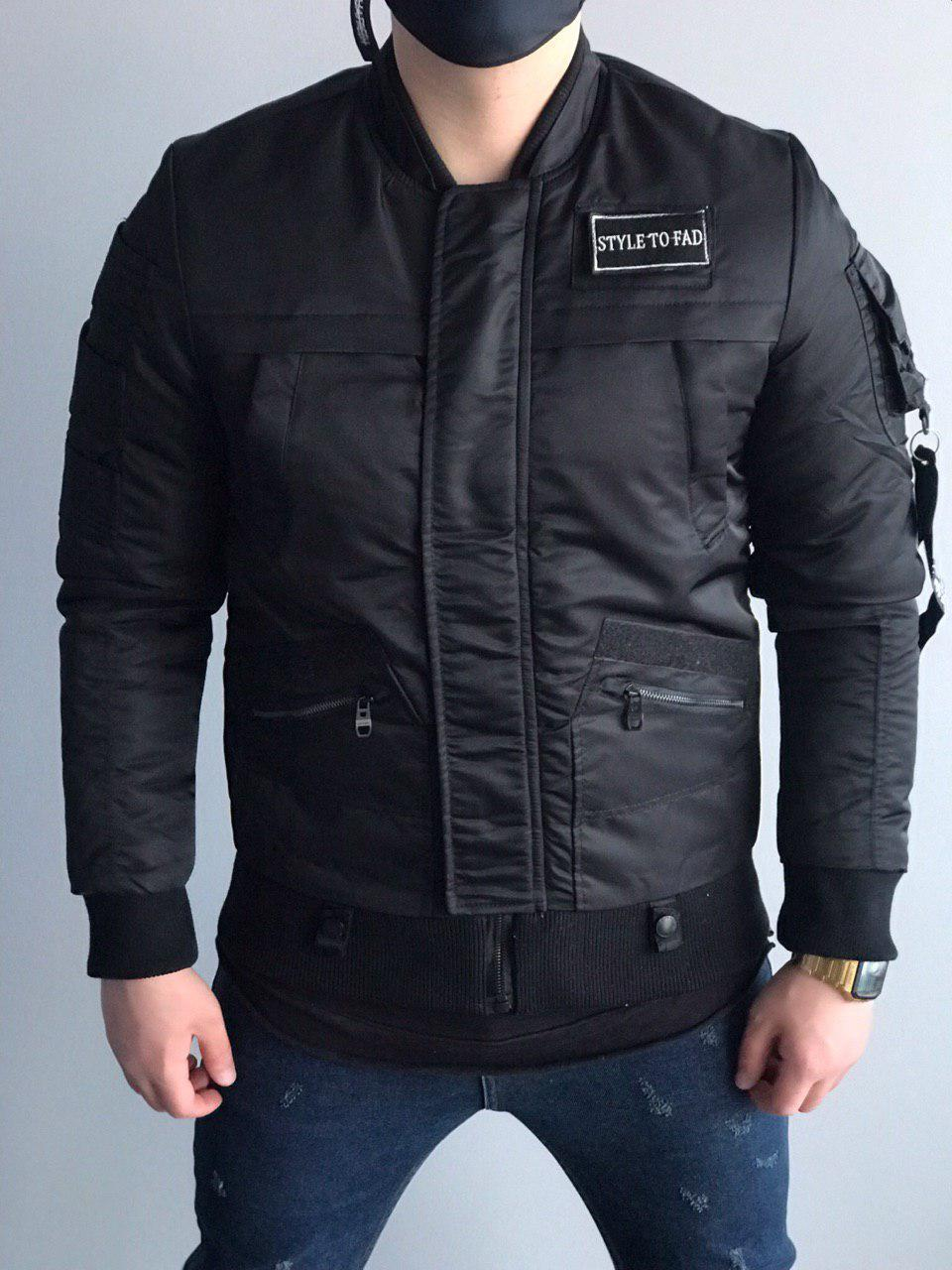 Мужская куртка бомбер черная STYLE TO FAD