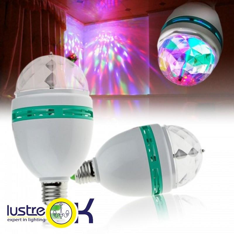 Диско-лампа вращающаяся Led LM 337/ 8EW  RGB