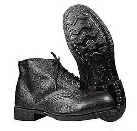 Ботинки рабочие юфтевые ВФ Зима Мех Гвоздевые черные