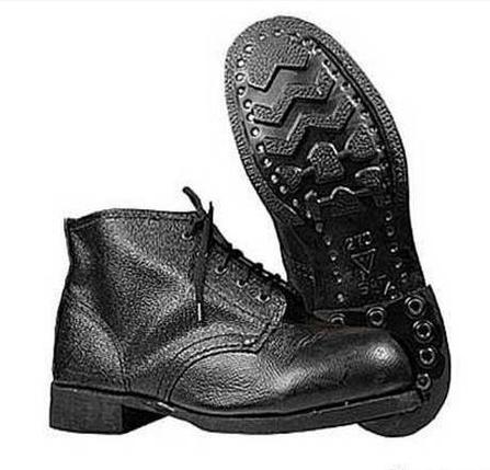 Ботинки рабочие юфтевые ВФ Зима Мех Гвоздевые черные, фото 2