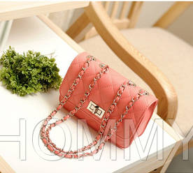 Женская маленькая сумочка на цепочке из PU кожи. Разные цвета. 17*14*6 см
