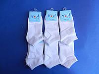"""Шкарпетки (31-33 розмір) КОРОТКІ БІЛІ бавовна """"YO SCORPIO"""" Польща"""