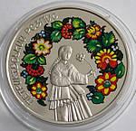 Монета Украины  5 грн. 2016 г. Петриковская роспись, фото 2