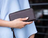 Жіночий гаманець 01 коричневий кожзам, фото 1