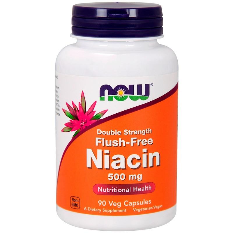 Now Foods, Ниацин двойной силы, 500 мг, 90 капсул
