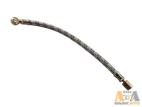 Маслопровод компрессора в металлической оплетке 240-3509150 (L-352мм) (JFD), фото 2