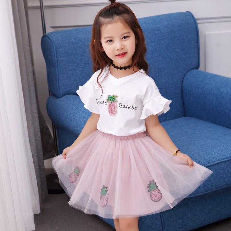 Детский костюм на девочку с ананасом
