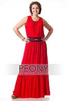 Женское платье Марокко (красный, темно синий)