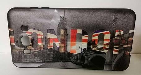 Чехол силиконовый для Samsung (J510) 3D London Black, фото 2
