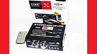 Автомобильный Усилитель  звука UKC AK-699 2-х канальный 2*300 ват підсилювач звуку в авто usb/sd/bt караоке FM