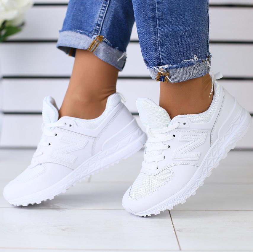 7a2581ac0 Модные женские кожаные кроссовки кеды на танкетке с сеткой белые на платформе  бренд TI54NS22FG - TOP