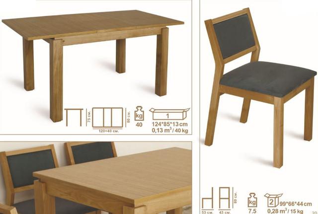 Комплект стол и стулья Комано бук натуральный (характеристики)