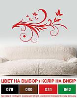 Интерьерная виниловая наклейка на стену Завитушка (декоративная пленка, декор завиток, листья)