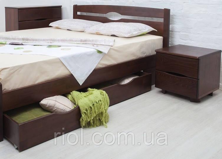 Кровать из бука Нова с ящиками ТМ Олимп