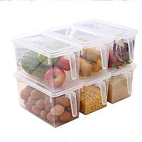 Прозрачный контейнер для хранения продуктов в холодильник, Прозорий контейнер для зберігання продуктів в холодильник, Товары для кухни, Товари для