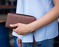 Жіночий гаманець 01 світло коричневий кожзам, фото 1