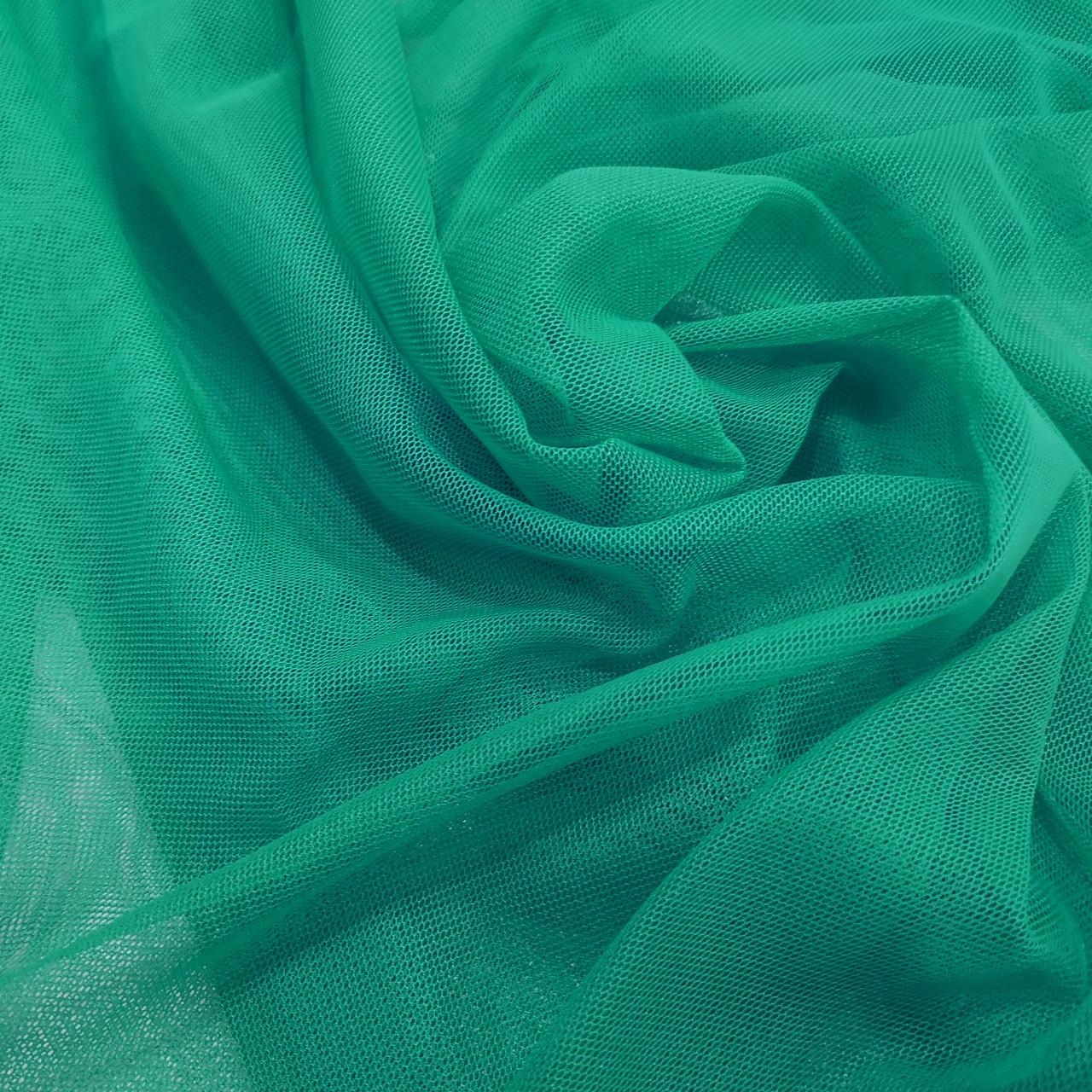 Ткань сетка стрейч бирюзовая